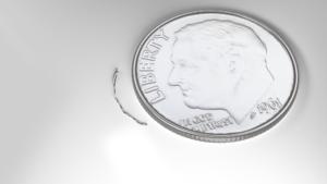 comparison of microstent size to dime