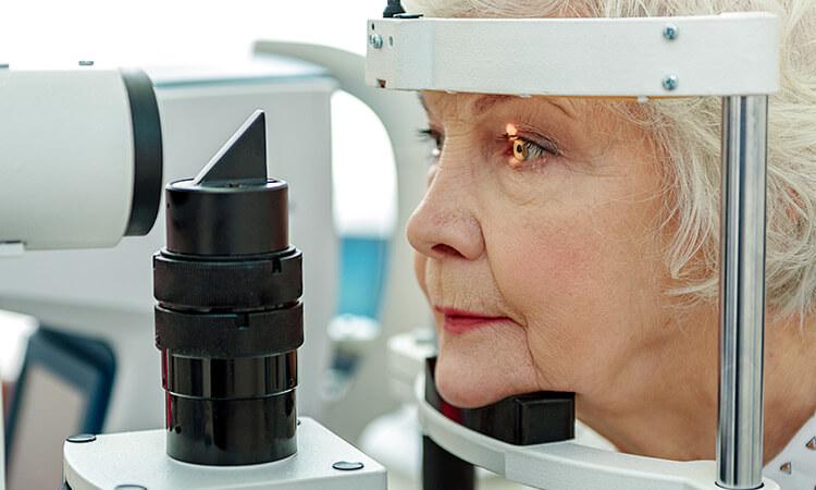 Senior Women Eye Exam